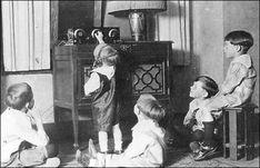 Children listening to radio, Calgary, Alberta, circa 1920s