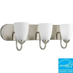 Progress Lighting Gather Collection 3-Light Brushed Nickel Fluorescent Vanity Fixture-P2708-09EBWB at The Home Depot