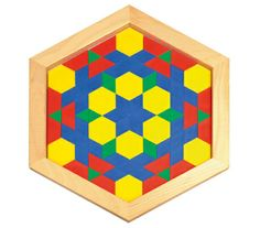 "Pattern Blocks Hexagonal Frame: Create ""work stations"" for your geometric work"