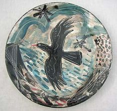 'Chough Flight' ceramic plate by Mark Hearld Ceramic Plates, Ceramic Pottery, Ceramic Art, Middle School Art, High School, Clay Birds, Pottery Painting, Painting Art, Glasgow School Of Art