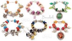 Some of our bracelets :-) Pandora Charms, Handmade Jewelry, Pendants, Charmed, Bracelets, Earrings, Inspiration, Beauty, Ear Rings