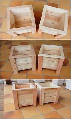 Creative DIY Recycling Ideas for Shipping Wooden Pallets - Wooden Pallet Ideas Pallet Planter Boxes Wood Pallet Planters, Wooden Pallet Projects, Wooden Pallet Furniture, Wooden Pallets, Pallet Ideas, Wooden Diy, Diy Furniture, Wooden Planter Boxes Diy, Recycling Furniture