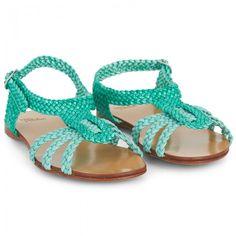Petite Maloles Green Woven Sandals