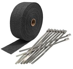 """Black LAVA EXHAUST PIPE HEAT WRAP 2"""" x 50' MOTORCYCLE HEADER INSULATION - Exhaust Systems"""