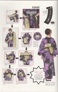 Kimono HIme Volume 11 Page 51 Japanese Yukata, Japanese Costume, Japanese Sewing, Japanese Textiles, Japanese Outfits, Japanese Fashion, Asian Fashion, Desire Clothing, Modern Kimono