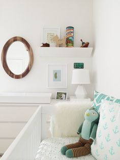 Caitlin Wilson | Teal Arrows and Mint Anchors in Nursery by Katie O'Neal