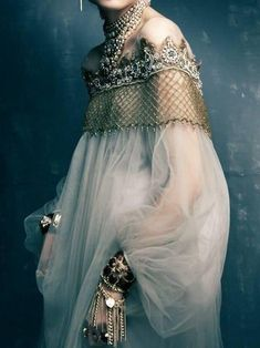 Gold and tulle