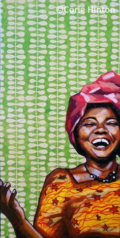 Art Print African woman 8x10 PRECIOUS by coriehinton on Etsy, $20.00