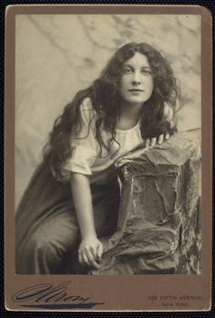 This image of a young Sarah Bernhardt reminds me of Rowena