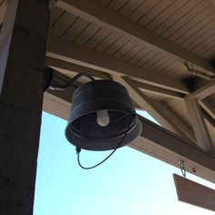 DIY outdoor lampshade ( found outside the home store at LL Bean Freeport Maine)