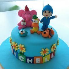 TeaRoom by Bel Jee: Pocoyo cake (smaller version)