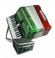 Mirage T5005TC Mexican Flag Color Piano Key Accordion by Mirage. $399.99. This Mexican Flag Color Piano Key Accordion with three sets of reeds and five treble switches. It also comes with padded straps and a deluxe, locking hardshell carrying case. This is a solid, well-built musical instrument that features a tri-color Mexican Flag with a beautiful marbelized finish. The Piano Key accordion is also a very economically priced instrument, and it makes a perfect accordion for ...