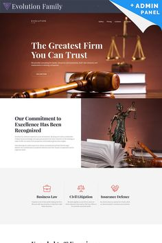 Evolution - Lawyer MotoCMS 3 Landing Page Template #65033