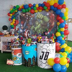 Birthday Table, Third Birthday, 2nd Birthday Parties, Boy Birthday, Avengers Birthday, Superhero Birthday Party, Baby Shower Decorations, Balloons, Spiderman