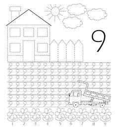 Planse de colorat educationale pentru dezvoltarea prescolarului in sfera matematicii, aceste planse ajuta copilul sa-si dezvolte abilitatil... Preschool Learning Activities, Kindergarten Writing, Preschool Classroom, Teaching Math, Kids Learning, Math Coloring Worksheets, School Worksheets, Math Numbers, Writing Numbers