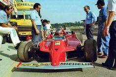 F-1 Ferrari 126 C Turbo, 1980 Prova. Gilles Villeneuve on board.
