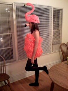 Flamingo halloween costume for Loryn Flamingo Halloween Costume, Creepy Halloween Food, Bird Costume, Halloween Costume Accessories, Halloween 2, Halloween Party Costumes, Halloween Cakes, Halloween Decorations, Karneval Outfit