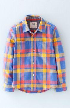 Mini Boden Check Woven Shirt (Toddler Boys, Little Boys & Big Boys) available at #Nordstrom