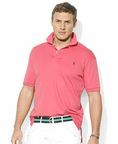Polo Ralph Lauren Big and Tall Shirt, Classic-Fit Short-Sleeve Cotton Interlock Polo - Polos - Men - Macy\u0026#39;s