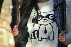 Pastel N Pink: Raccoon Sweater