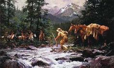 """They Came From Nowhere"" - Howard Terpning"