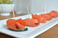 Smoked Salmon Hors d'Oeuvres - perfect for entertaining or a fancy snack!