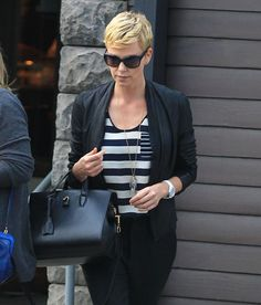 Charlize Theron street style
