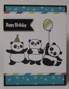 In My Craft Room   Stamping With Glenda: Stamparatus And Party Pandas Card