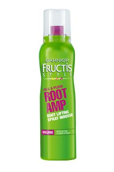 Give even the limpest strands a kick in the pants with this root-lifting spray foam. Garnier Fructis Full & Plush Root Amp Root Lifting Spray Mousse, MSRP $4.29; garnierusa.com
