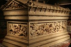 Alexander the Great sarcophagus Scenes from Alexander's life, NOT his actual resting place. Istanbul?
