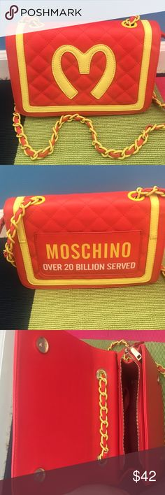 NON authentic moshino purse red n yellow Moschino Bags
