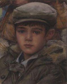Original-Pastel-by-Jean-Francois-Le-Saint-Portrait-of-a-boy-140219