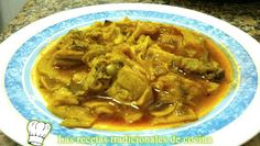 Gazpacho Manchego o galianos Spanish Kitchen, Spanish Cuisine, Gazpacho Manchego, Thai Red Curry, Beef, Chicken, Dinner, Cooking, Ethnic Recipes