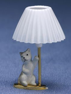DOLLHOUSE MINIATURE CHILD'S Kitten Lamp MH0798 by A1WHOLESALES