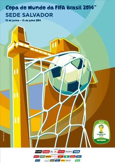 The posters of the 12 host cities of the FIFA World Cup 2014 (Brazil) - Salvador