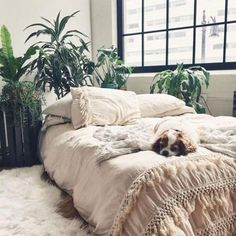 Magical Thinking Net Tassel Duvet Cover - Urban Outfitters —what my bed area of my room will look like, just not on the floor Urban Outfitters Bedroom, Duvet Covers Urban Outfitters, Home Bedroom, Bedroom Decor, Master Bedroom, Bedrooms, Bedroom Ideas, Bedroom Layouts, Bedroom Styles