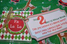 2 Days - holiday napkins  #teachergifts #12daysofchristmas www.cwazytown.com
