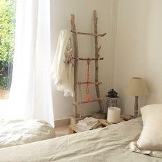 creation echelle en bois flotte decoration deco bois