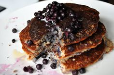 blueberry pancakes-vegan and grain-free