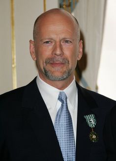 Bruce Willis during Bruce Willis Receives the Arts and Letters Medal in Paris Inside at Ministry of Culture in Paris France