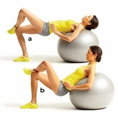 Rutina abdomen plano con Fitball ~ MUSCULACION PARA PRINCIPIANTES  Abdominales Con Fitball c377d5fd5543
