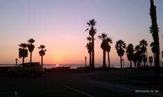 beachfront, california, port hueneme, sunset