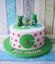 Milé žabky na torte od Kmeci Cakes. Tortyodmamy.sk