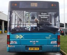 This advertisement for an insurance company was put on the back of buses in Amsterdam.