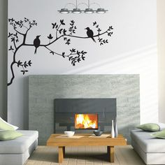 Bird & Branch Wall Sticker for Sale at Bouf Bird Wall Decals, Diy Wall Stickers, Removable Wall Stickers, Wall Art, Diy Home Decor, Home Goods, Wall Decor, Painting, Bird Branch