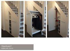 trapschoenenkast Stair Storage, Locker Storage, Storage Solutions, Sweet Home, Stairs, House, Furniture, Bergen, Helpful Hints