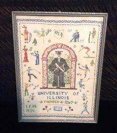 University of Illinois Sports Sampler Theta Sigma Phi 1934 #Sampler