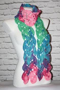 Crochet multicolor scarf  #crochet #crocheted #shawl #etsy #etsyshop, #etsyseller, #handmade #boho #neckwarmer #makatarina #crochetshawl #crochetscarf #cozyshawl #multicolorscarf #colorfulscarf #elegantscarf