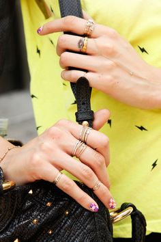 NYC #streetstyle vintage rings