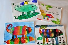 A Color of His Own by Leo Lionni...fun project to make with the kids.